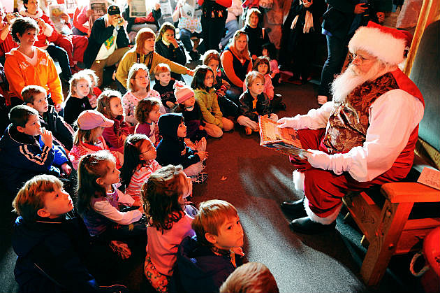 Santa With Crowd