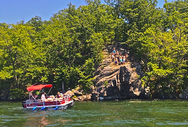 Chicken Rock on Candlewood Lake - Photo by Ethan
