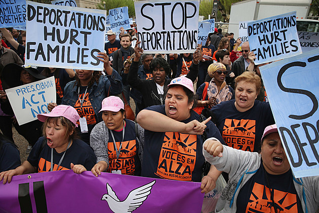 Activists Rally Outside The White House To Protest Deportations