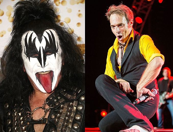 Gene Simmons & David Lee Roth/Getty Images