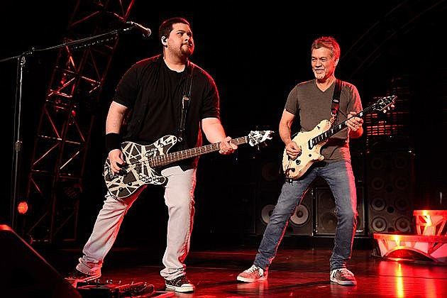Edward Van Halen and his son Wolfgang 2015 (Getty Images)